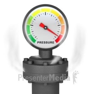 ID# 3910 - Pressure Gauge - Presentation Clipart
