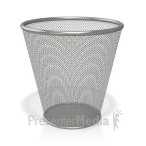 ID# 3920 - Empty Waste Basket - Presentation Clipart