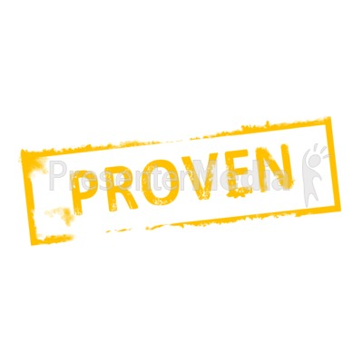 Proven Rubber Stamp PowerPoint Clip Art