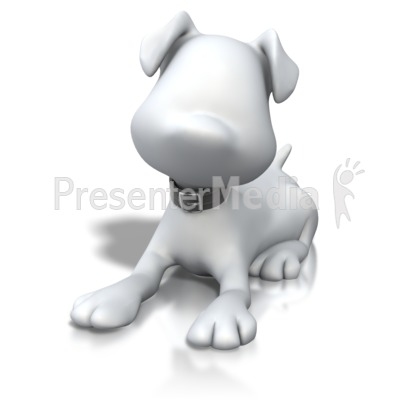 Stick Figure Dog Laying Down PowerPoint Clip Art