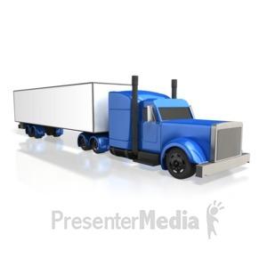 ID# 3950 - Semi Truck Perspective - Presentation Clipart
