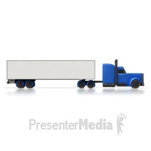 ID# 3953 - Semi Truck Side  - Presentation Clipart
