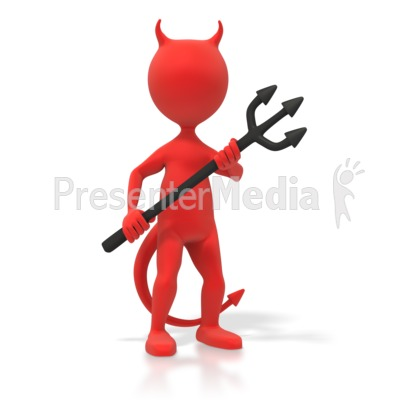 Red Devil Figure - Signs and Symbols - Great Clipart for ...