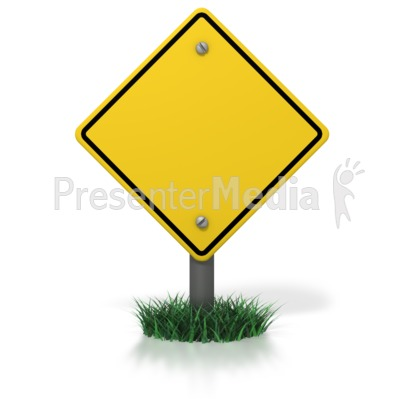 Blank Caution Sign - Signs and Symbols - Great Clipart for ...
