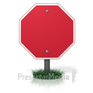 ID# 3967 - Blank Stop Sign - Presentation Clipart