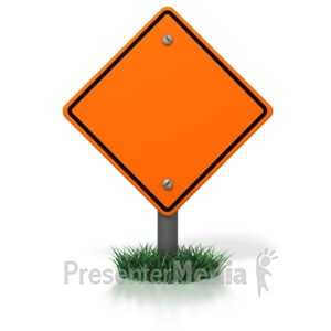 ID# 3968 - Blank Construction Sign - Presentation Clipart