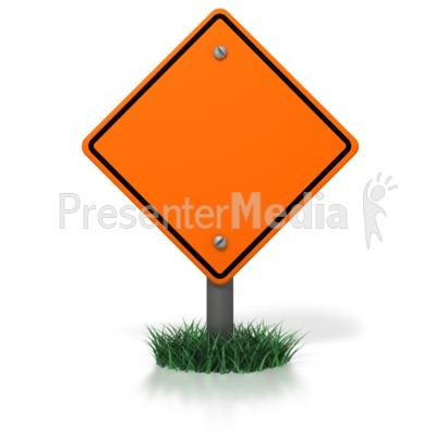 Blank Construction Sign PowerPoint Clip Art
