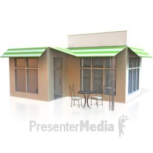 ID# 3974 - Corner Store - Presentation Clipart