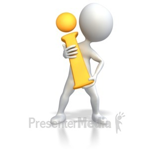 ID# 3980 - Stick Figure Holding Information i  - Presentation Clipart
