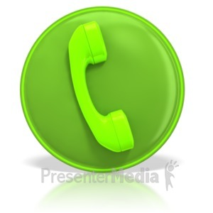 ID# 3983 - Phone Contact Symbol - Presentation Clipart