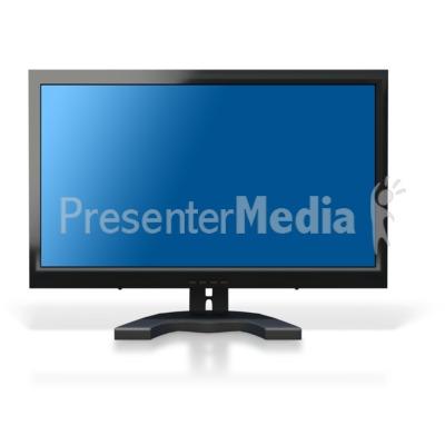 Computer Monitor Blue Screen PowerPoint Clip Art