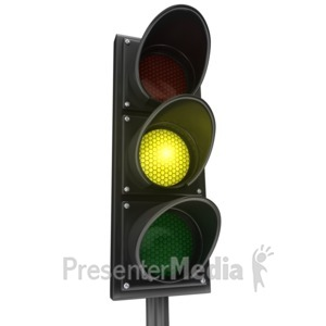 ID# 3990 - Traffic Light Yellow Yield - Presentation Clipart