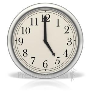 ID# 3993 - Five o'clock - Presentation Clipart