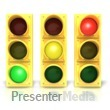 ID# 3994 - Three Traffic Stoplights - Presentation Clipart