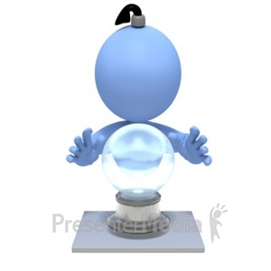ID# 3995 - Fortune Teller Crystal Ball - Presentation Clipart