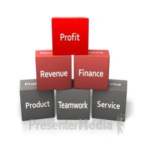 ID# 3999 - Building Blocks Business - Presentation Clipart