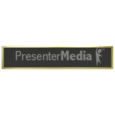 Blank Digital Panel PowerPoint Clip Art