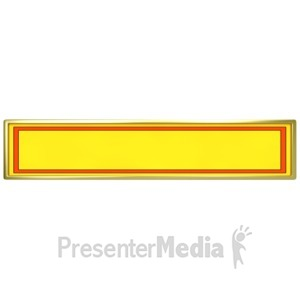 ID# 4021 - Yellow Panel with Red Border - Presentation Clipart