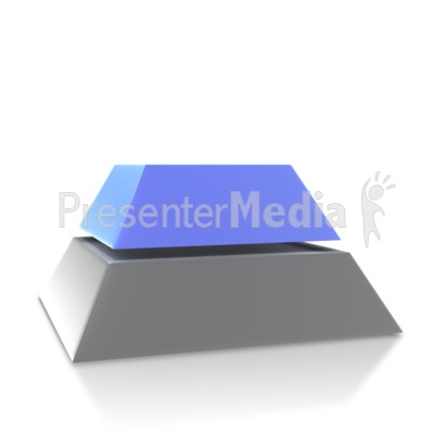 Four Point Pyramid Second Level PowerPoint Clip Art