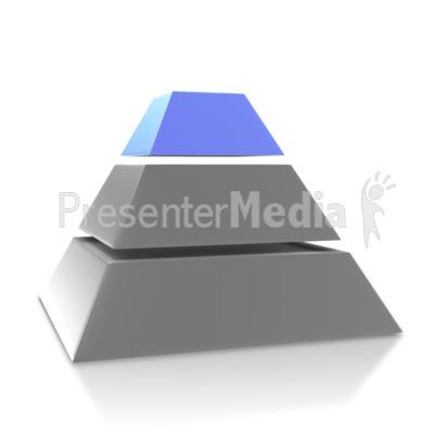 Four Point Pyramid Third Level PowerPoint Clip Art