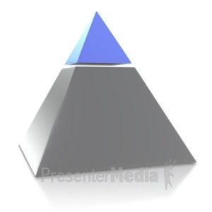 ID# 4038 - Two Point Pyramid - Presentation Clipart