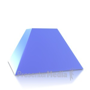 ID# 4039 - Two Point Pyramid Base - Presentation Clipart