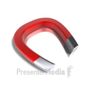 ID# 4101 - Horseshoe Red Magnet - Presentation Clipart