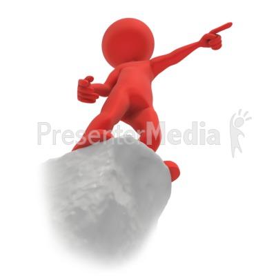 Figure Point Cliff PowerPoint Clip Art