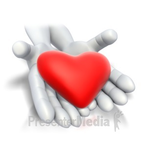 ID# 4138 - Heart In Hands  - Presentation Clipart