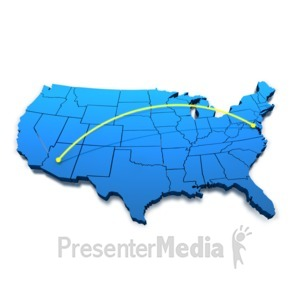 ID# 4142 - Phoenix To Washington DC - Presentation Clipart