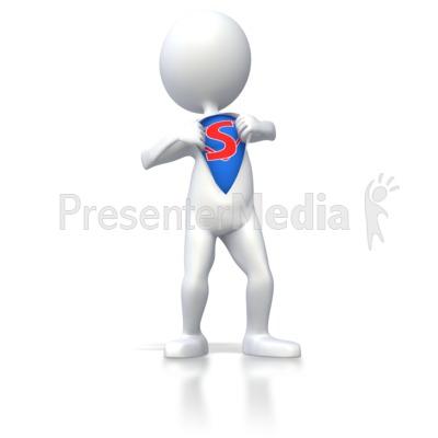Superhero Stick Figure  PowerPoint Clip Art