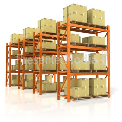 Warehouse Product PowerPoint Clip Art