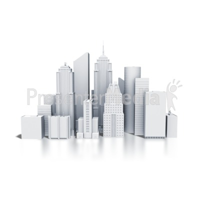 High Rise City Office Building - Presentation Clipart - Great ...