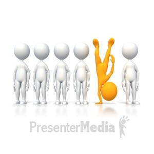 ID# 4154 - Be Different  - Presentation Clipart
