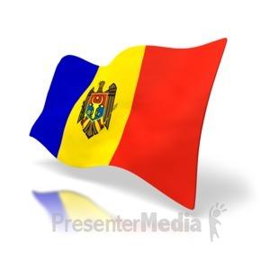 ID# 4167 - Moldova Flag - Presentation Clipart