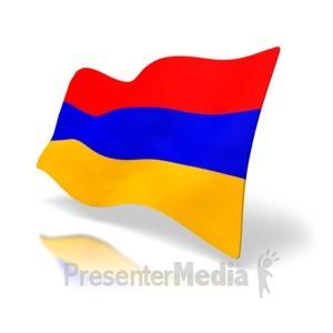 ID# 4168 - Armenia Flag - Presentation Clipart