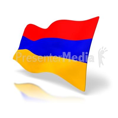 Armenia Flag PowerPoint Clip Art