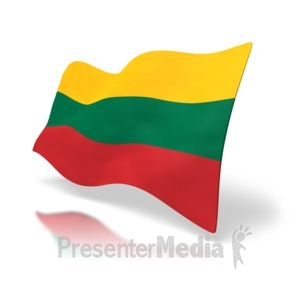 ID# 4170 - Lithuania Flag - Presentation Clipart