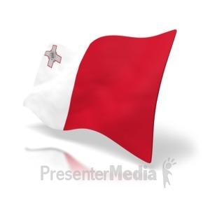ID# 4178 - Malta Flag - Presentation Clipart