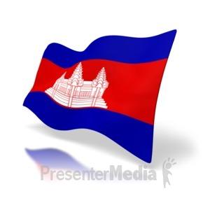 ID# 4181 - Cambodia Flag - Presentation Clipart