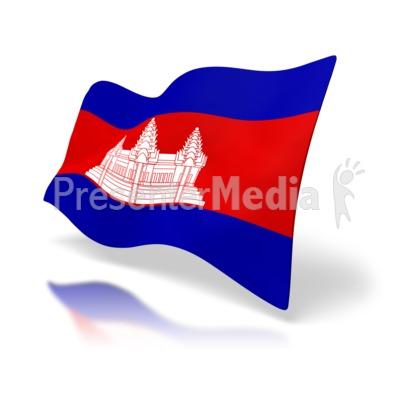 Cambodia Flag PowerPoint Clip Art