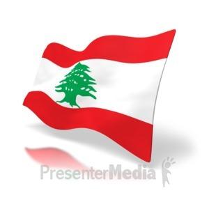 ID# 4184 - Lebanon Flag - Presentation Clipart