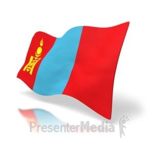 ID# 4185 - Mongolia Flag - Presentation Clipart