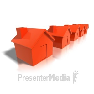 ID# 4189 - Row Of Houses - Presentation Clipart