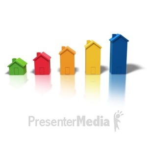 ID# 4193 - Housing Market Growth - Presentation Clipart