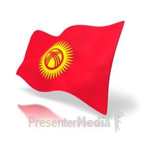 ID# 4200 - Kyrgyzstan Flag - Presentation Clipart