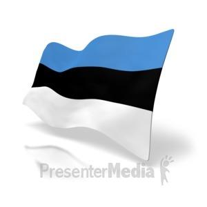 ID# 4203 - Estonia Flag - Presentation Clipart