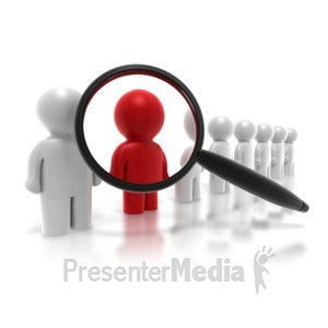 ID# 4255 - People Search - Presentation Clipart