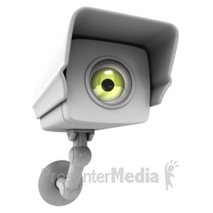 ID# 4257 - Camera Surveillance Big Brother - Presentation Clipart