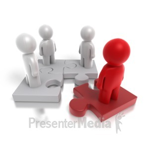 ID# 4264 - Puzzle Key Employee - Presentation Clipart